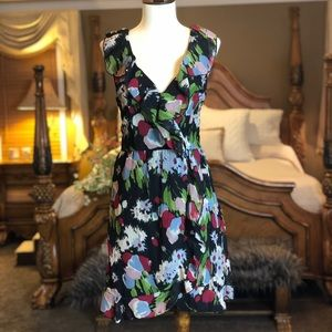 Mimi Chica Black Floral Water Color Print Dress